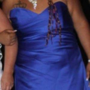 Royal Blue Alfred Angelo brides maid dress